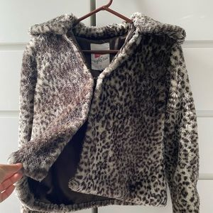 Jackets & Blazers - Cheeta fluff coat